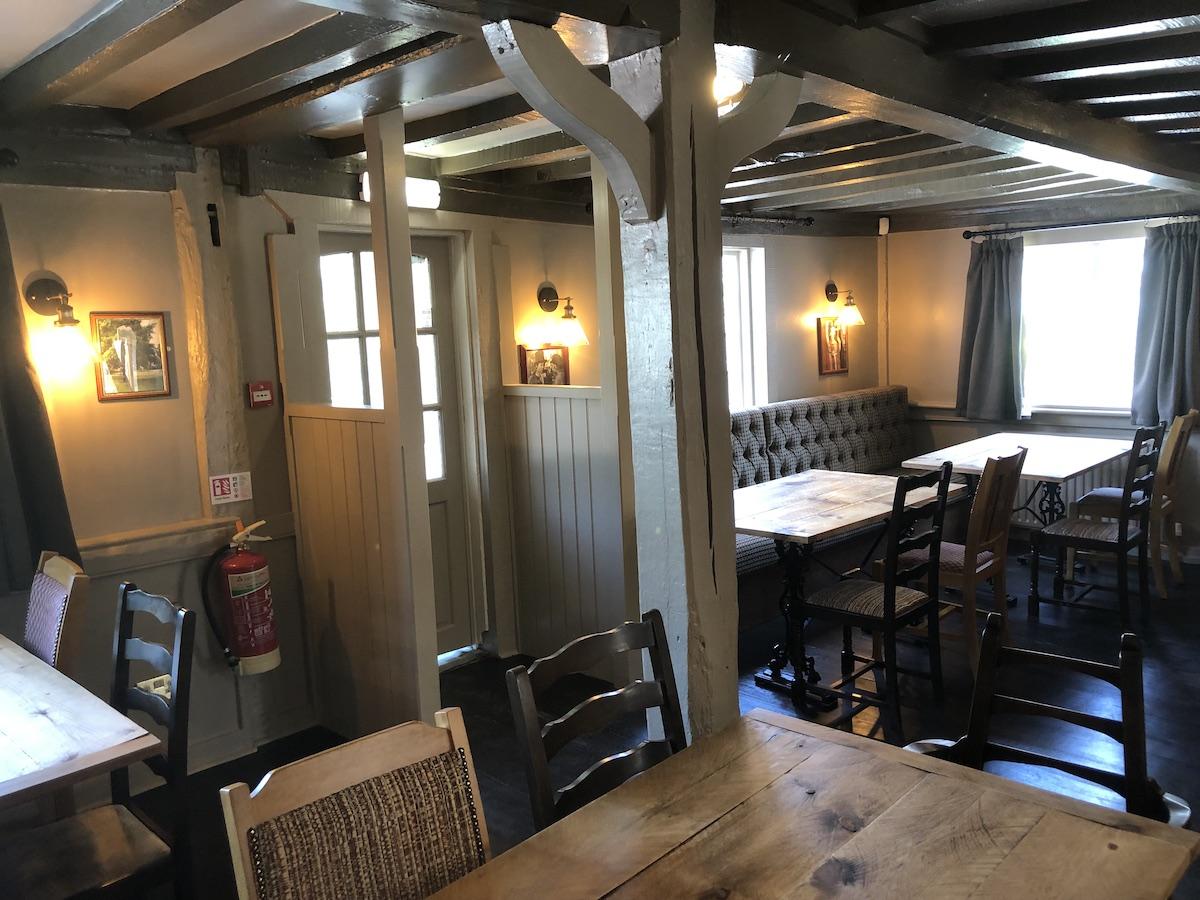 The Crown - Bar door after